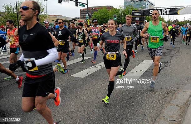 Jill Howard of Highlands Ranch heads our on the 10 mile run. After being diagnosed with a baseball-sized Meningioma brain tumor on October 9, 2013...