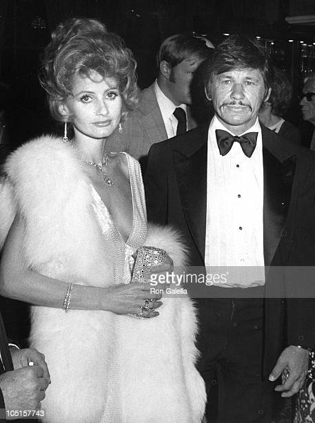 Jill Ireland and Charles Bronson during AFI Salute to John Ford United States.