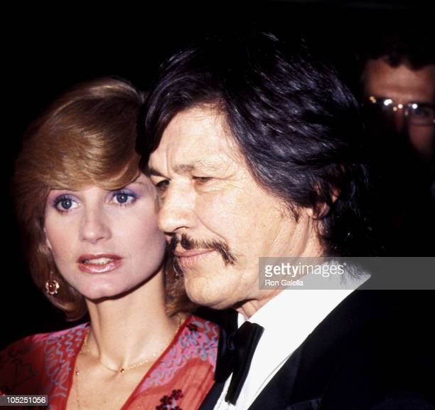 Jill Ireland and Charles Bronson during Man of La Mancha Premiere in Los Angeles March 8 1978 at Pantages Theater in Los Angeles California United...
