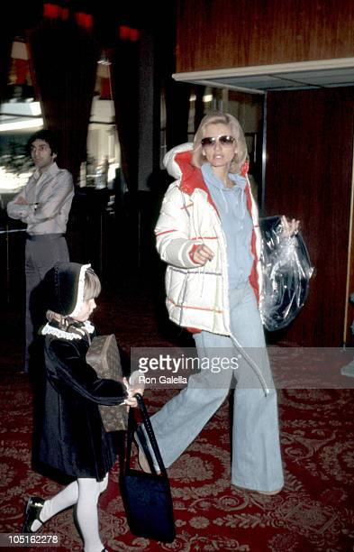 Jill Ireland and daughter Zuleika during The 34th Annual Golden Globe Awards Rehearsals at Beverly Hilton Hotel in Beverly Hills California United...