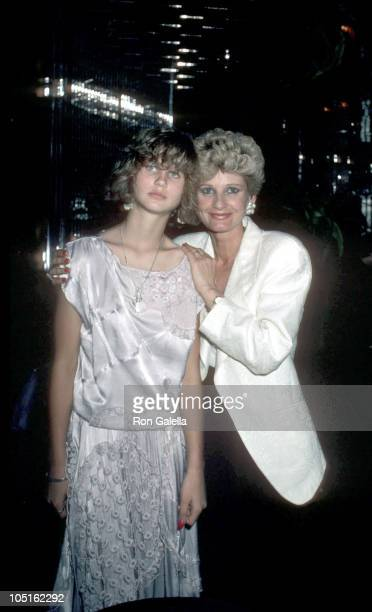 "Jill Ireland and daughter Zuleika during Wrap Party For ""Death Wish III"" at Regine's in New York City, New York, United States."