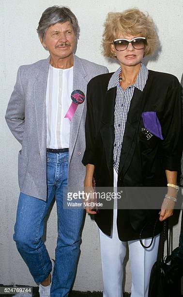 Jill Ireland Charles Bronson in Los Angeles September 1984