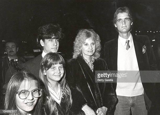 "Jill Ireland & children during Opening night of ""Barnum"" at Pantages Theatre in Los Angeles, California, United States."