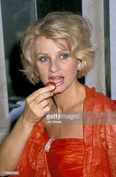Jill Ireland during 1988 Epicurian Gala at Century Plaza Hotel in Los Angeles CA United States