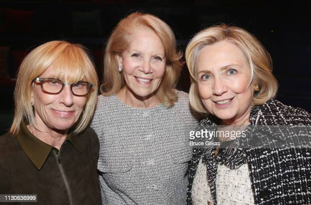 Jill Iscol Producer Daryl Roth nd Hillary Rodham Clinton attend a performance of 'Gloria A Life' at The Daryl Roth Theater in honor of 'International...