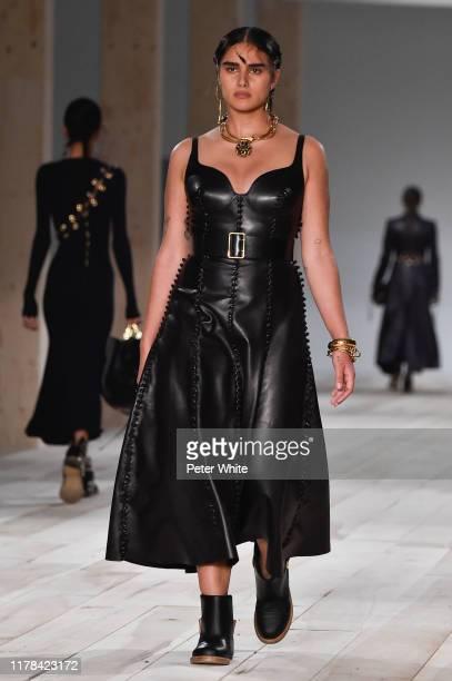 Jill Kortleve walks the runway during the Alexander McQueen Womenswear Spring/Summer 2020 show as part of Paris Fashion Week on September 30 2019 in...