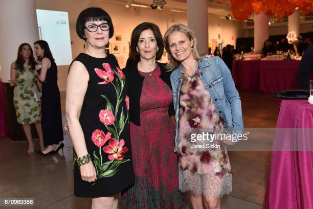 Jill Kraus Susan Freedman and Holly Lipton attend Public Art Fund's 40th Anniversary Benefit at Metropolitan West on April 20 2017 in New York City