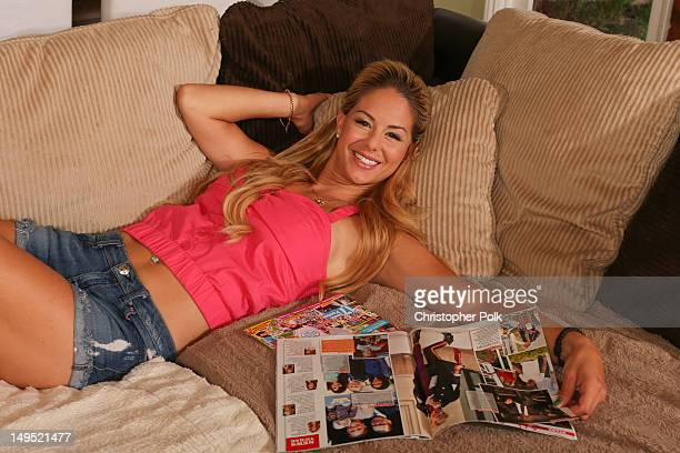 Jill Kussmacher poses during an at home photo shoot on July 16 2012 in Los Angeles California