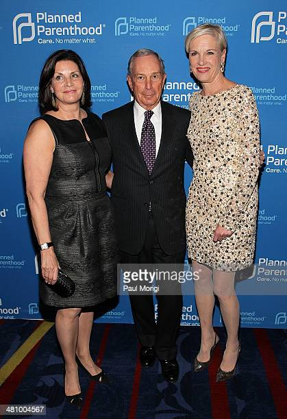 Jill Lafer former NYC Mayor Michael Bloomberg and Planned Parenthood Federation of America President Cecile Richards attend the Planned Parenthood...