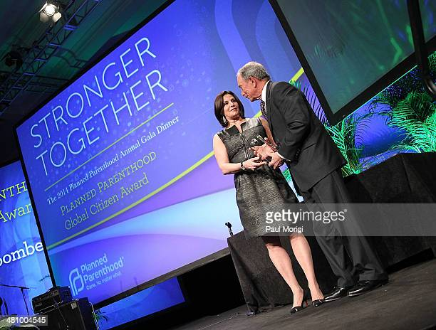 Jill Lafer presents former NYC Mayor Michael Bloomberg with the Global Citizen Award at the Planned Parenthood Federation Of America's 2014 Gala...