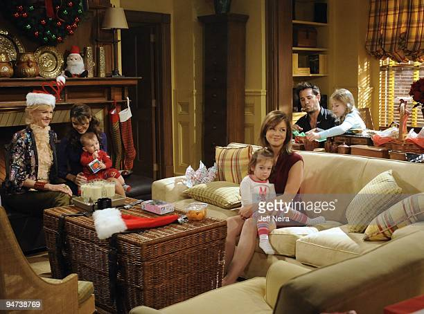 CHILDREN Jill Larson Chrishell Stause Aiden/Connor Sharpe Jessica/Rachael Slomovitz Bobbie Eakes Ricky Paull Goldin and Alexa Gerasimovich in a scene...