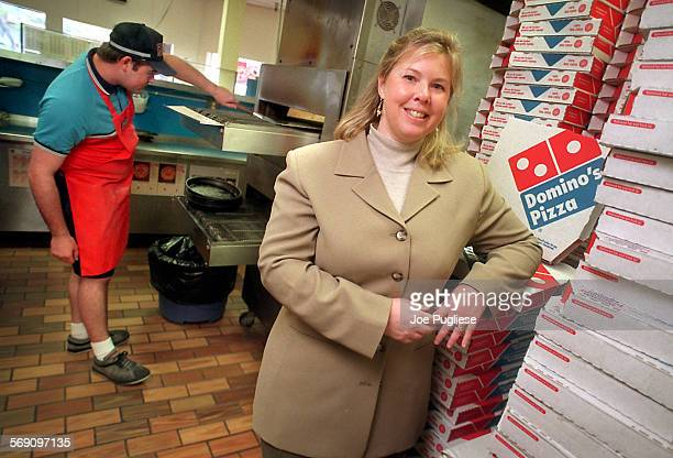 Jill Lederer Pizza Queen of Thousand Oaks poses in one of her ten Domino's Pizza franchises in Westlake Village Lederer is an outspoken opponent of...