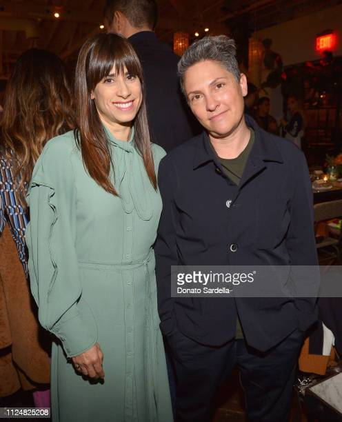 Jill Magid and Jill Soloway attend Liz Goldwyn and MATCHESFASHIONCOM celebrate the launch of Frieze LA at Gracias Madre on February 13 2019 in West...