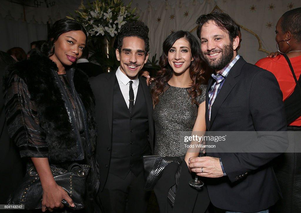 Jill Marie Jones, Ray Santiago, Dana DeLorenzo and Craig DiGregorio attend the Starz Pre-Golden Globe Celebration at Chateau Marmont on January 8, 2016 in Los Angeles, California.