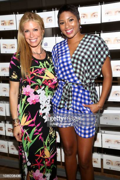 Jill Martin and Alicia Quarles attend Clear Eyes Partners With The Nolcha Shows To Showcase Emerging Designers' #MyShiningMoment at West Edge on...