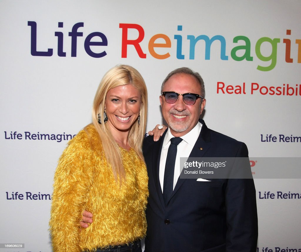 Jill Martin and Emilio Estefan attend The Launch of AARP's 'Life Reimagined' hosted by Emilio Estefan and Dan Marino at La Bottega Trattoria at The Maritime Hotel on May 28, 2013 in New York City.