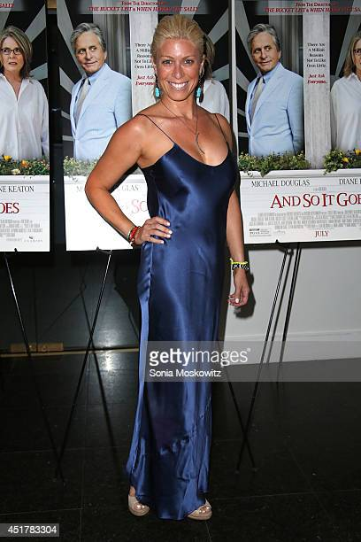 Jill Martin attends the And So It Goes premiere at Guild Hall on July 6 2014 in East Hampton New York