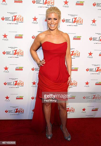 Jill Martin attends the Go Red For Women The Heart Truth Red Dress Collection during MercedesBenz Fashion Week Fall 2014 at The Theatre at Lincoln...