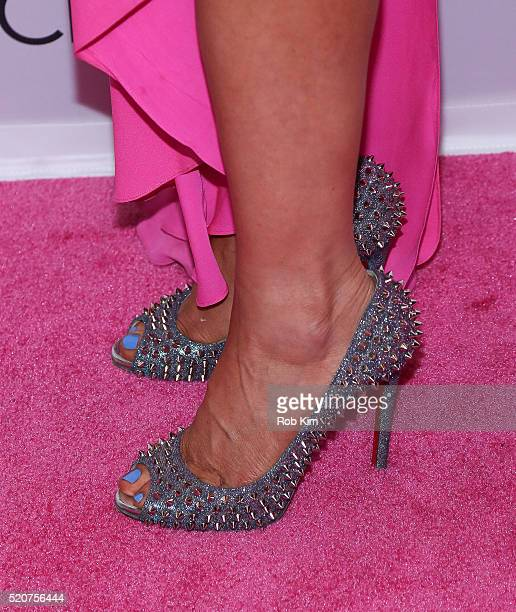 Jill Martin shoe detail attends 2016 Breast Cancer Research Foundation Hot Pink Party at The Waldorf=Astoria on April 12 2016 in New York City