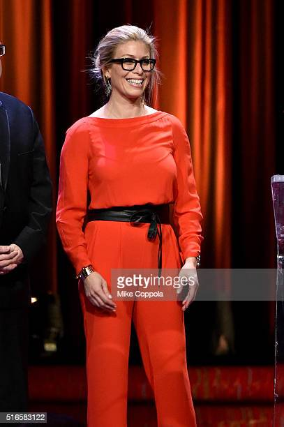 Jill Martin speaks onstage at the 59th annual New York Emmy Awards at Marriott Marquis Times Square on March 19 2016 in New York City