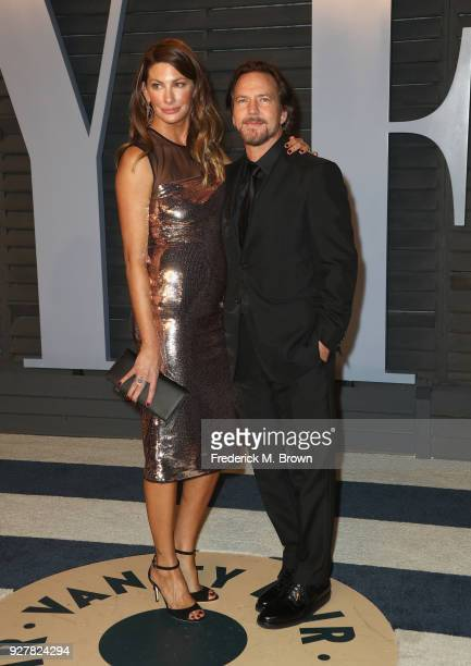Jill McCormick and Eddie Vedder attend the 2018 Vanity Fair Oscar Party hosted by Radhika Jones at Wallis Annenberg Center for the Performing Arts on...