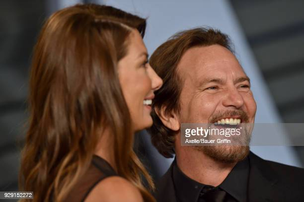 Jill McCormick and musician Eddie Vedder attend the 2018 Vanity Fair Oscar Party hosted by Radhika Jones at Wallis Annenberg Center for the...