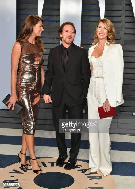 Jill McCormick Eddie Vedder and Laura Dern attend the 2018 Vanity Fair Oscar Party hosted by Radhika Jones at Wallis Annenberg Center for the...