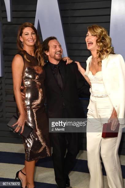 Jill McCormick Eddie Vedder and Laura Dern attend the 2018 Vanity Fair Oscar Party hosted by Radhika Jones at the Wallis Annenberg Center for the...