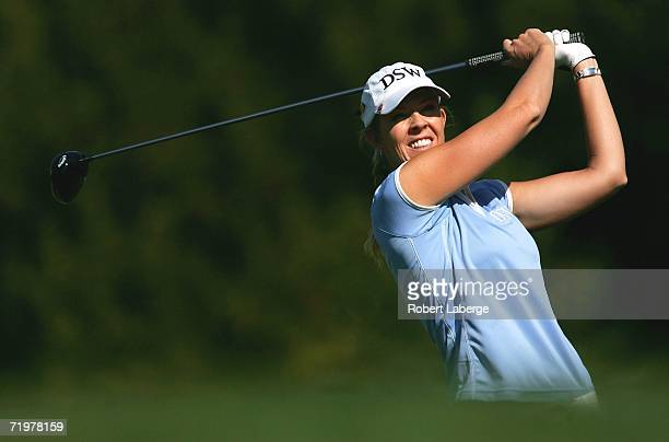 Jill McGill makes a tee shot during the third round of the LPGA Longs Drugs Challenge on September 23 2006 at the Blackhawk Country Club in Danville...