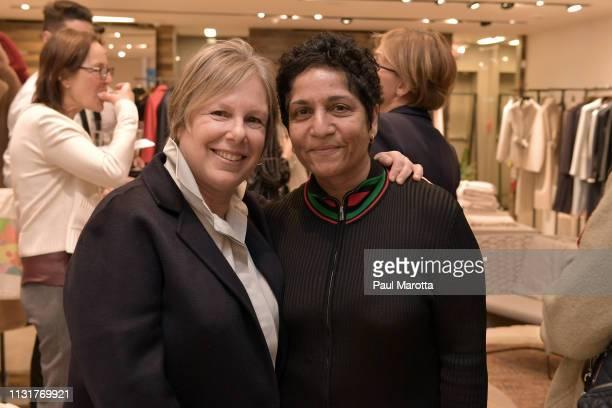 Jill Medvedow and Huma Bhabha attend the Max Mara Celebrates Huma Bhabha 'They Live' At ICA/Boston on March 20 2019 in Boston Massachusetts