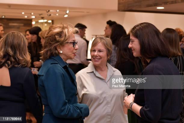 Jill Medvedow and Maria Giulia Maramotti attend the Max Mara Celebrates Huma Bhabha 'They Live' At ICA/Boston on March 20 2019 in Boston Massachusetts
