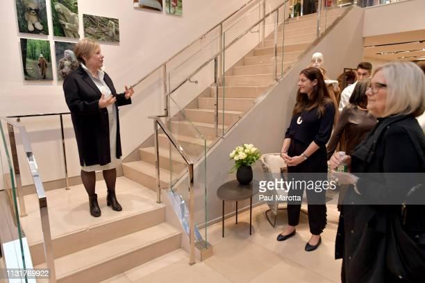 Jill Medvedow speaks at the Max Mara Celebrates Huma Bhabha 'They Live' At ICA/Boston on March 20 2019 in Boston Massachusetts