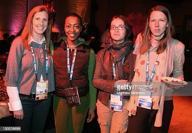 Jill Miller Juanita Brown Alla Kovgan and Katrina Browne attends the Competition Dinner at The Shop during the 2008 Sundance Film Festival on January...