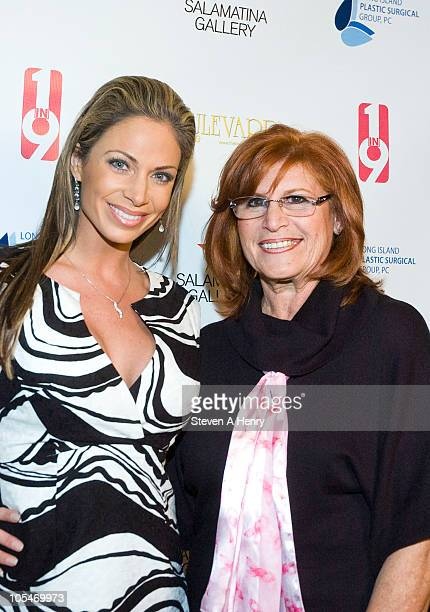 Jill Nicolini and Geri Barish attend the 1 In 9 The Long Island Breast Cancer Action Coalition And The LIPSG Foundation fundraiser at Americana...