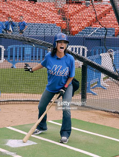 Jill Nicolini during 3rd Annual Project ALS and New York Mets Fundraiser Celebrity Batting Practice at Shea Stadium in New York City New York United...