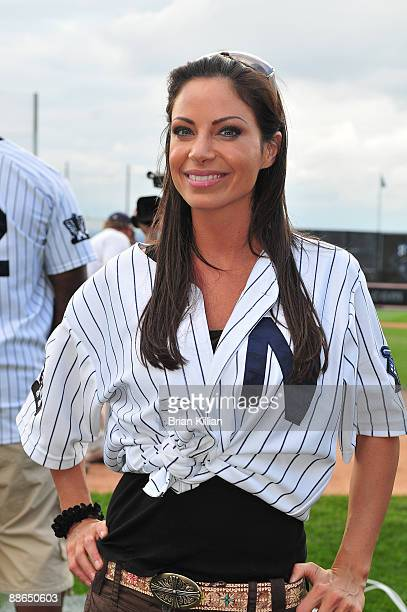 Jill Nicolini from WPIX11 attends the 2009 Atlantic League allstar game and the Hot 97 vs KISSFM Celebrity Softball Showdown at Bears Eagles...