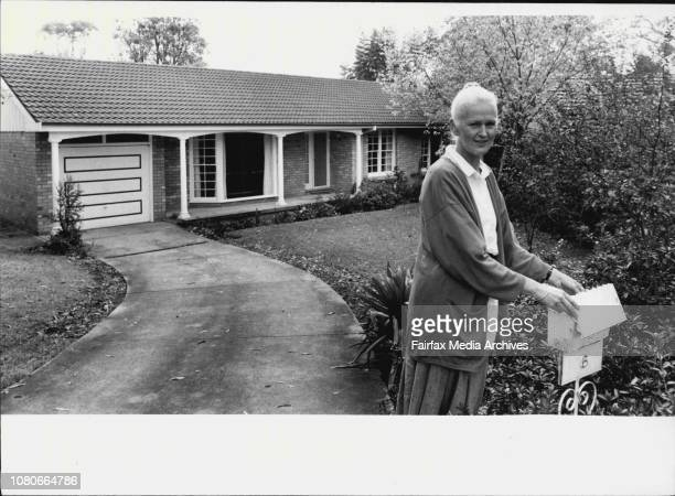 Jill Northrop outside her Turramurra home April 30 1986