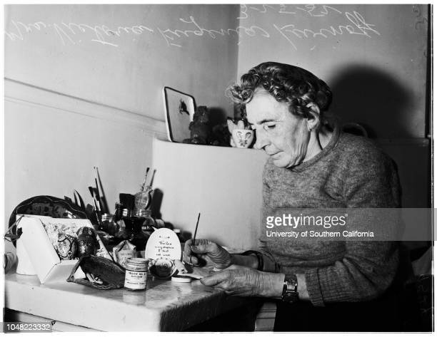 Jill of all trades 25 March 1952 Mrs Victoria Eugenia Livinoff 59 yearsCaption slip reads 'Photographer Olmo Date 0325 Reporter Markson Assignment...