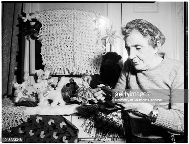 Jill of all trades, 25 March 1952. Mrs Victoria Eugenia Livinoff -- 59 years.;Caption slip reads: 'Photographer: Olmo. Date: 03-25. Reporter:...
