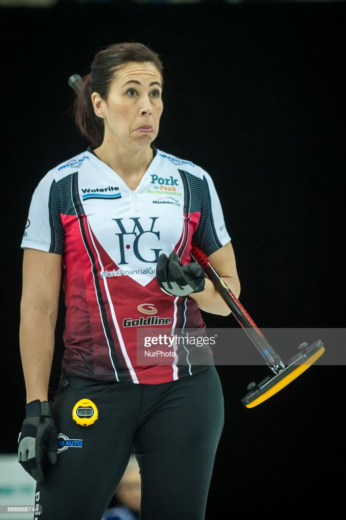 Jill Officer on the ice during 2017 WetJet Players Championship which takes place in Ryerson's Mattamy Athletic Centre, in Toronto, Ontario, Canada on April 13, 2017.