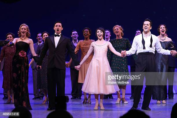 Jill Paice Max von Essen Leanne Cope and Robert Fairchild during the Broadway Opening Night Curtain Call for 'An American In Paris' at The Palace...