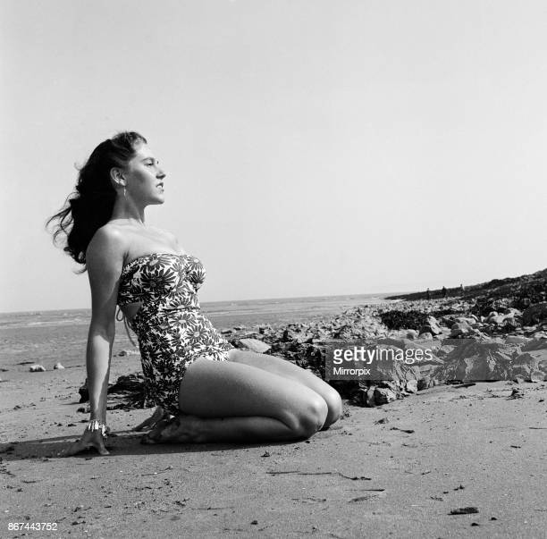 Jill Randle ballet dancer from Porth on the beach at Barry Island 7th June 1952