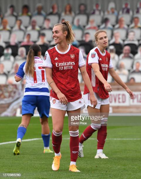 Jill Roord of Arsenal during the match between Arsenal Women and Reading Women at Meadow Park on September 06, 2020 in Borehamwood, England.