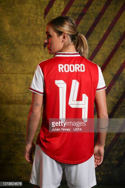 Jill Roord of Arsenal poses during the UEFA Women's Champions League Portrait Shoot at London Colney on February 24 2020 in St Albans England