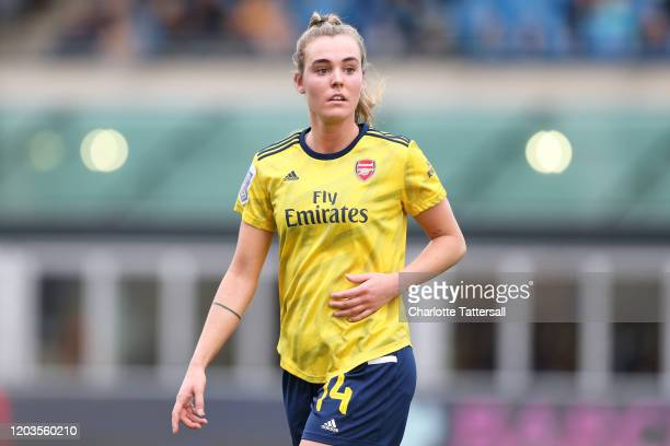 Jill Roord of Arsenal reacts during the Barclays FA Women's Super League match between Manchester City and Arsenal at The Academy Stadium on February...