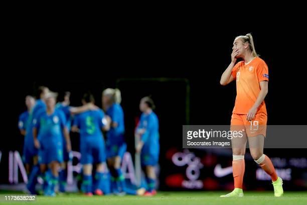 Jill Roord of Holland Women during the EURO Qualifier Women match between Slovenia v Holland at the Fazanerijastadium on October 4 2019 in Murska...