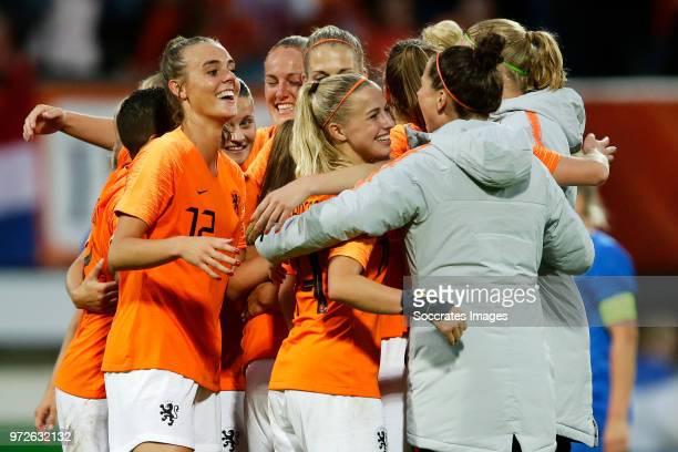 Jill Roord of Holland Women Sherida Spitse of Holland Women Stefanie van der Gragt of Holland Women Kelly Zeeman of Holland Women Jackie Groenen of...