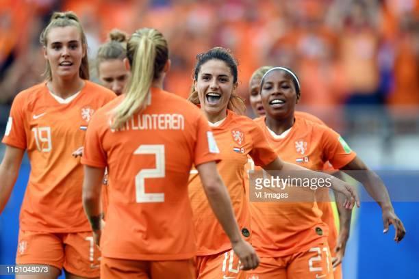 Jill Roord of Netherlands women, Desiree van Lunteren of Netherlands women, Danielle van de Donk of Netherlands women, Lineth Beerensteyn of...
