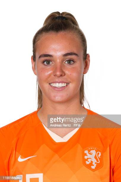 Jill Roord of the Netherlands poses for a portrait during the official FIFA Women's World Cup 2019 portrait session at Hotel Novotel Le Havre Centre...