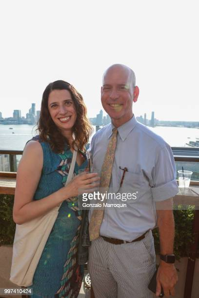 Jill Schwartzman and Seale Ballenger during the Melissa de la Cruz And Michael Johnston Summer Soiree at Azul On the Rooftop at Hotel Hugo on July 12...